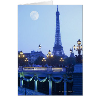 Evening View of Eiffel Tower Card