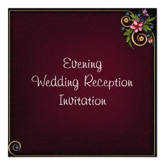 Evening Wedding Reception Invitation Card