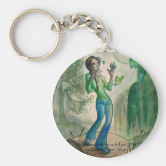 Evening With Butterflies Basic Round Button Keychain
