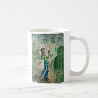 Evening With Butterflies Classic White Coffee Mug