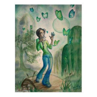 Evening With Butterflies Postcard