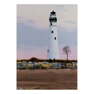 Evening's Lighthouset Art Card Business Card Templates