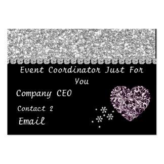 Event Coordinator GLITTER Business Card