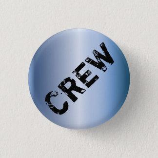 Event Crew Badge grunge metallic 1 Inch Round Button