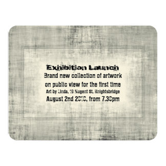 Art exhibition invitations announcements zazzle ca event invitation exhibition art launch promotion stopboris Image collections