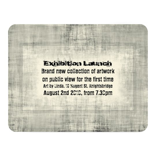 Event Invitation Exhibition Art Launch Promotion