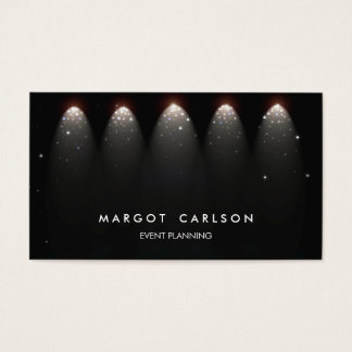 Event Planner and Entertainment Stars and Lights Business Card