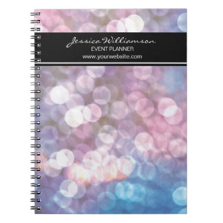 Event Planner • bokeh, sparkle lights, trendy Notebooks