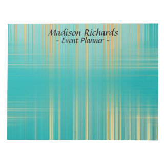 Event Planner Modern Turquoise Pattern Notepad