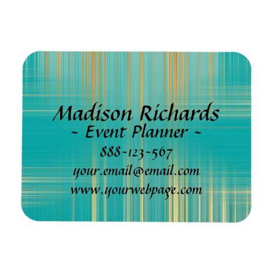 Event Planner Modern Turquoise Pattern Rectangular Photo Magnet