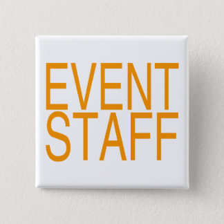 Event Staff 2 Inch Square Button