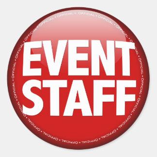 Event Staff Classic Round Sticker