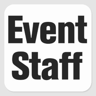 Event Staff Square Sticker