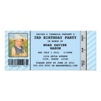 Event Ticket Style Birthday Party Inviation Card