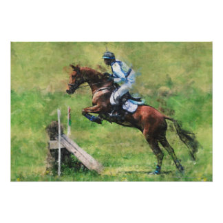 Eventer jumping poster