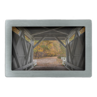 Everatt Road Covered Bridge Rectangular Belt Buckles