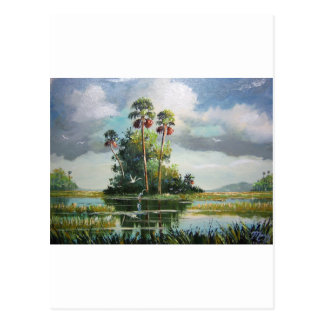 Everglades Art Postcard