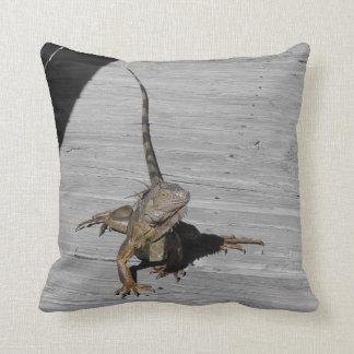 Everglades Iguana Throw Pillow