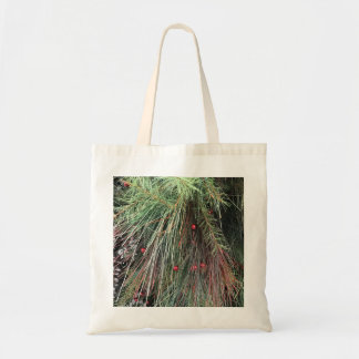 Evergreen and Snow Tote Bag