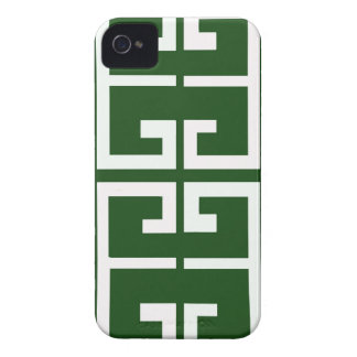 Evergreen and White Tile iPhone 4 Cover