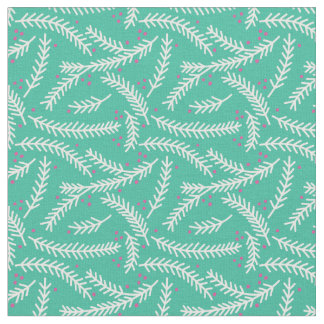 Evergreen Berry Patterned Fabric (Emerald)
