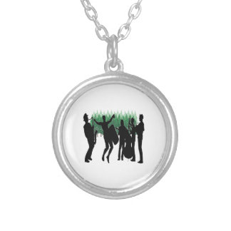 Evergreen Blues Silver Plated Necklace