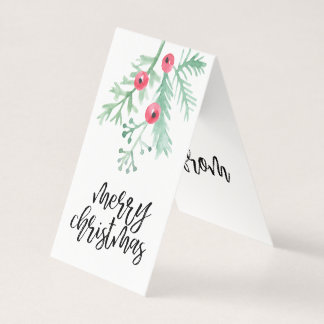 Evergreen Christmas Holiday Folded Gift Tag