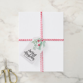 Evergreen Christmas Holiday Gift Tag