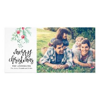 Evergreen Christmas Holiday Photo Card