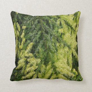 Evergreen Christmas Throw Pillow