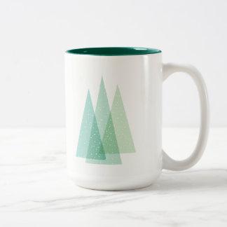 Evergreen Christmas tree holiday mug