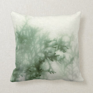 evergreen close-up with texture throw pillow