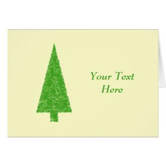 Evergreen Fir Tree. Green Yellow. Christmas. Card