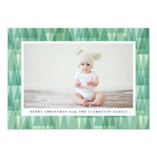 Evergreen frame holiday photo card