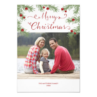 Evergreen Greetings - Christmas photo card