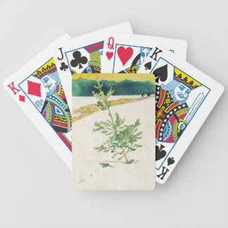 Evergreen in Snow Bicycle Playing Cards