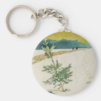 Evergreen in Snow Keychain
