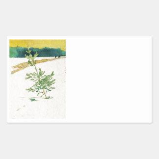 Evergreen in Snow Sticker