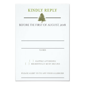 Evergreen Love Response Card