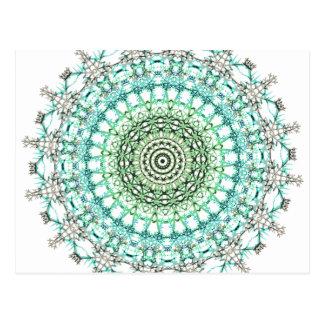 Evergreen Mandala Pattern Postcard