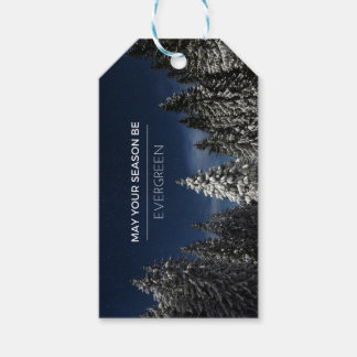Evergreen Photo Holiday Gift Tag
