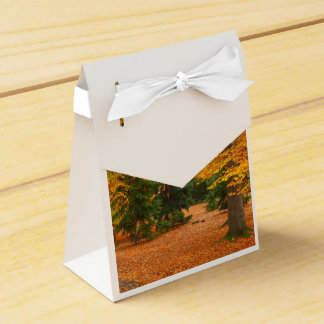 Evergreen Pines and Autumn Trees Wedding Favor Boxes