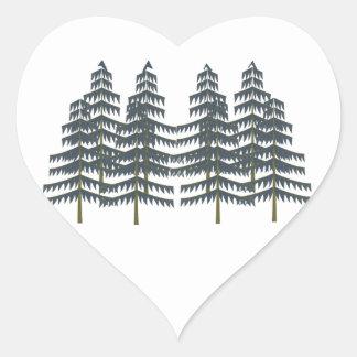 Evergreen Pleasures Heart Sticker