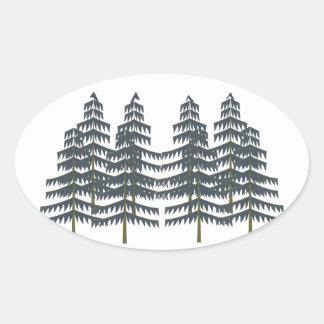 Evergreen Pleasures Oval Sticker