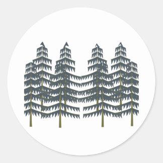 Evergreen Pleasures Round Sticker