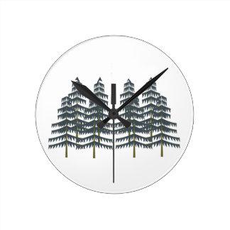 Evergreen Pleasures Wall Clock