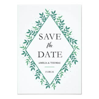 "Evergreen - Save the Date 5"" X 7"" Invitation Card"
