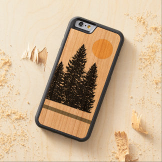 Evergreen Silhouette iPhone 6 Wood Case