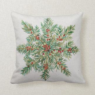 Evergreen Star Throw Pillow