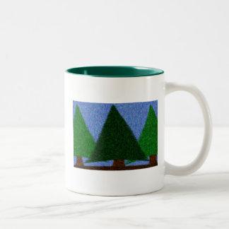 Evergreen State of Mind Two-Tone Coffee Mug